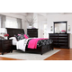 Broyhill Farnsworth Storage Sleigh Bedroom Set in Inky Black Stain 4856STBR