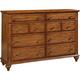 Broyhill Hayden Place Drawer Dresser in Golden Oak 4645-230