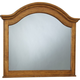 Broyhill Hayden Place Arched Dresser Mirror in Golden Oak 4645-237