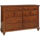 Broyhill Hayden Place Drawer Dresser in Light Cherry 4648-230