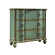Pulaski Hall Chest in Weathered Blue Finish