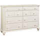 Broyhill Hayden Place Drawer Dresser in Linen White 4649-230