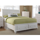 Broyhill Hayden Place Eastern King Storage Sleigh Bed in Linen White 4649-274ST