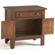 Broyhill Attic Heirlooms Door Night Stand in Rustic Oak 4399-93