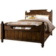 Broyhill Attic Heirlooms Queen Feather Bed in Rustic Oak 4399
