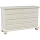 Broyhill Mirren Harbor Drawer Dresser in White 4024-230