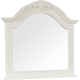 Broyhill Mirren Harbor Arched Dresser Mirror in White 4024-236