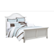 Broyhill Mirren Harbor Eastern King Arched Panel Bed in White 4024-254