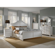 Broyhill Mirren Harbor Storage Arched Panel Bedroom Set in White 4024APSTBR