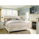 Universal Furniture Summer Hill 4PC Storage Bedroom Set in Cotton