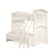 Universal Smartstuff Classics 4.0 Twin Over Full Bunk Bed in Summer White 131A590