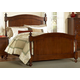 Homelegance Aris Queen Poster Bed in Warm Brown Cherry 1422-1