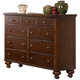 Homelegance Aris Dresser in Warm Brown Cherry 1422-5