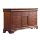 Kincaid Chateau Royale Solid Wood Triple Dresser in Aged Maple 53-162