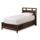 Universal Smartstuff Freestyle Twin Panel Platform Bed in Mocha 1371035