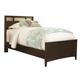 Universal Smartstuff Freestyle Twin Panel Bed in Mocha 1371036