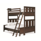 Universal Smartstuff Freestyle Twin Over Full Bunk Bed in Mocha 1371590