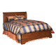 Kincaid Chateau Royale Solid Wood Queen Low Profile Bed in Aged Maple 53-155P