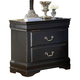 Homelegance Bastille Nightstand in Black 599BK-4