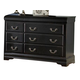 Homelegance Bastille Dresser in Black 599BK-5