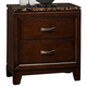 Homelegance Bleeker Nightstand in Brown Cherry 2112-4