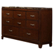 Homelegance Bleeker Dresser in Brown Cherry 2112-5