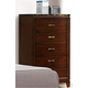 Homelegance Bleeker Chest in Brown Cherry 2112-9