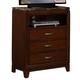 Homelegance Bleeker TV Chest in Brown Cherry 2112-11