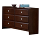 Homelegance Bridgeland Dresser in Dark Cherry 879-5
