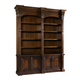 Hooker Furniture European Renaissance II Double Bookcase w/o Ladder & Rail in Dark Rich Brown SALE Ends Sep 27
