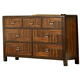 Homelegance Brumley Dresser in Burnish Cherry 2101-5