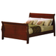 Acme Louis Philippe Eastern King Sleigh Bed in Cherry Oak 00387EK