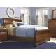 Universal Smartstuff  Classics 4.0 Sleigh Bedroom Set in Saddle Brown