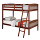 Acme Winston Twin Over Twin Bunk Bed in Dark Cherry 00512