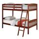 Acme Winston Twin Over Twin Bunk Bed in Dark Cherry 00512