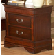 Homelegance Chateau Brown Nightstand in Warm Distressed Cherry 549-4