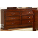 Homelegance Chateau Brown Dresser in Warm Distressed Cherry 549-5