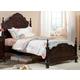 Homelegance Cinderella Twin Poster Bed in Dark Cherry 1386TNC-1