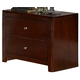 Homelegance Copley Nightstand in Dark Brown 815-4