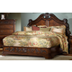 Homelegance Cromwell Queen Mansion Bed in Warm Cherry 2106-1