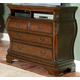 Homelegance Cromwell TV Chest in Warm Cherry 2106-11