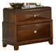 Homelegance Diamond Palace Nightstand in Dark Cherry 1465C-4