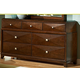 Homelegance Diamond Palace Dresser in Dark Cherry 1465C-5