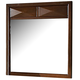 Homelegance Diamond Palace Mirror in Dark Cherry 1465C-6