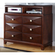 Homelegance Diamond Palace TV Chest in Dark Cherry 1465C-11