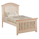 Acme Crowley Twin Panel Bed in Cream-Peach 00755T