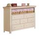 Acme Crowley Dresser in Cream-Peach with 3 Baskets 00761