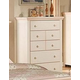 Acme Crowley 5-Drawer Chest in Cream-Peach 00762