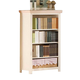 Acme Crowley Bookcase in Cream-Peach with 2 Baskets 00766