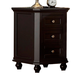 Homelegance Hanna Nightstand in Black 889BK-4